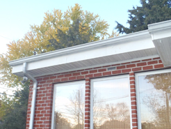 repaired soffit
